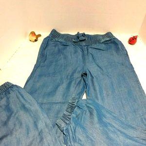 Joe Fresh cotton chambray jogger pants